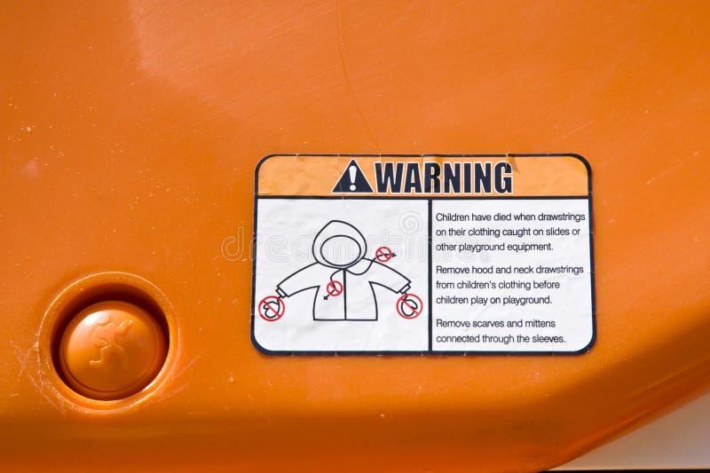 Étiquette d'avertissement photo libre de droits