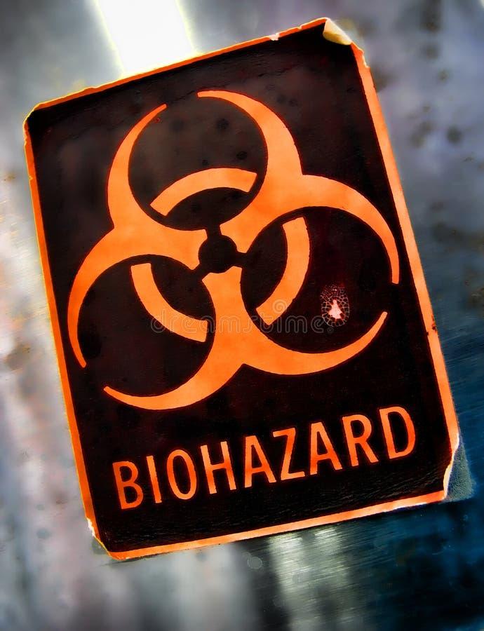 Étiquette d'avertissement de danger de Biohazard photo libre de droits