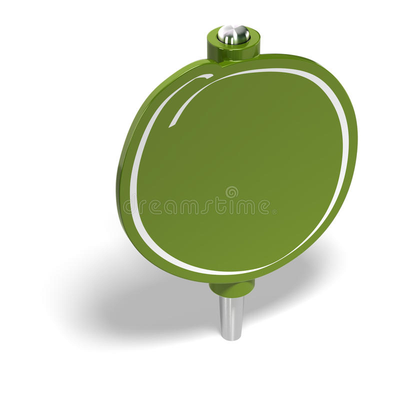 Étiquette d'Eco illustration stock