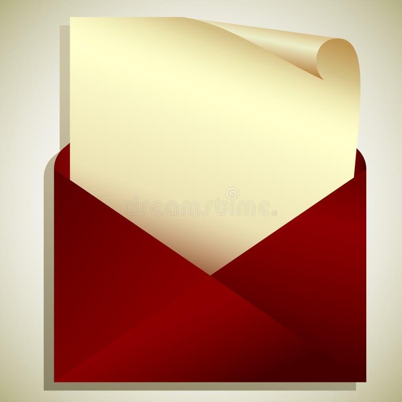 Étiquette dans l'enveloppe illustration libre de droits