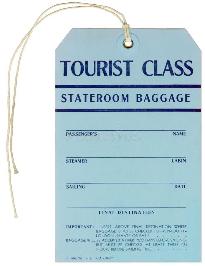 Étiquette de bagages de vapeur - 1937 image stock