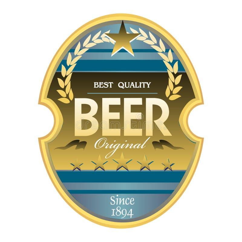 Étiquette de bière illustration libre de droits