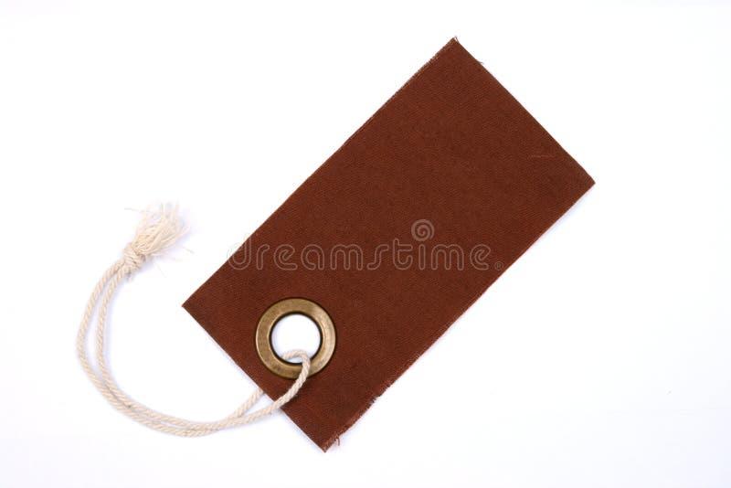 Étiquette de Brown d'isolement. photographie stock
