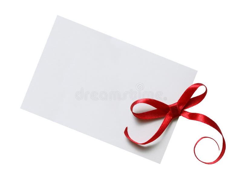 Étiquette de cadeau image libre de droits