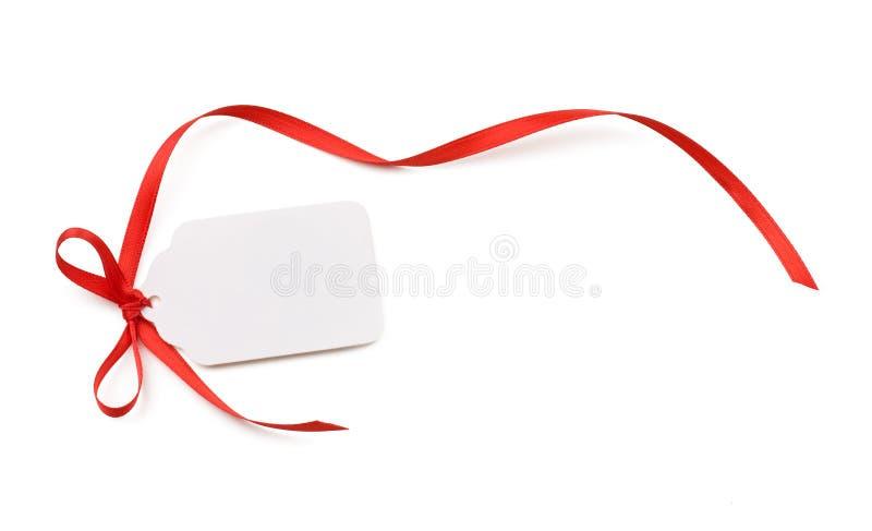 Étiquette de cadeau photos libres de droits