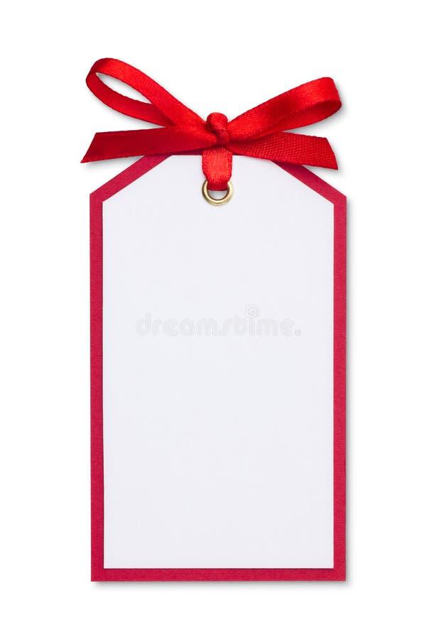 Étiquette de cadeau photos stock