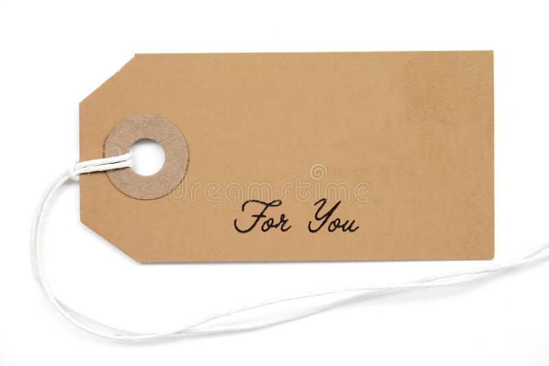 Étiquette de cadeau photo stock