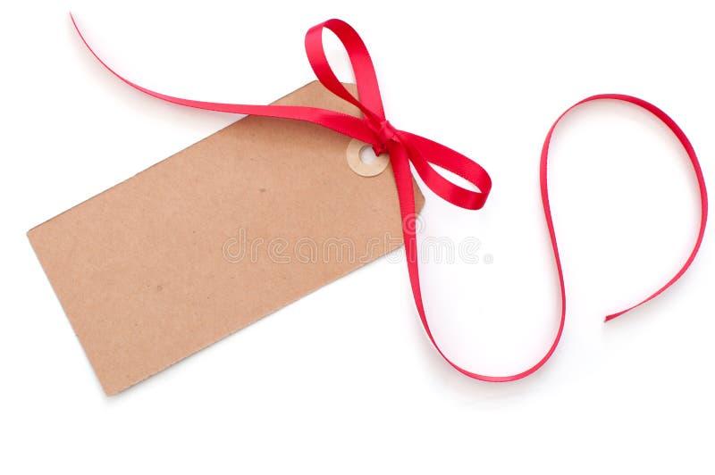 Étiquette de cadeau photographie stock
