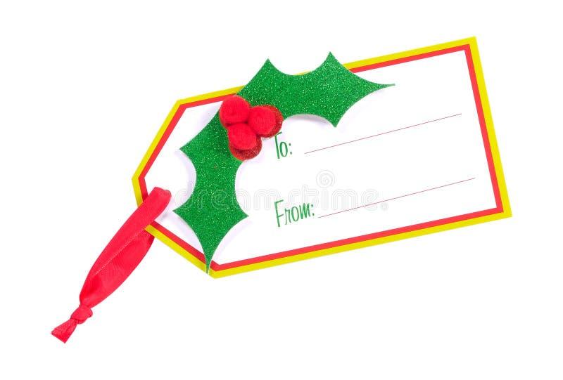 Étiquette de cadeau - chemin de découpage image libre de droits