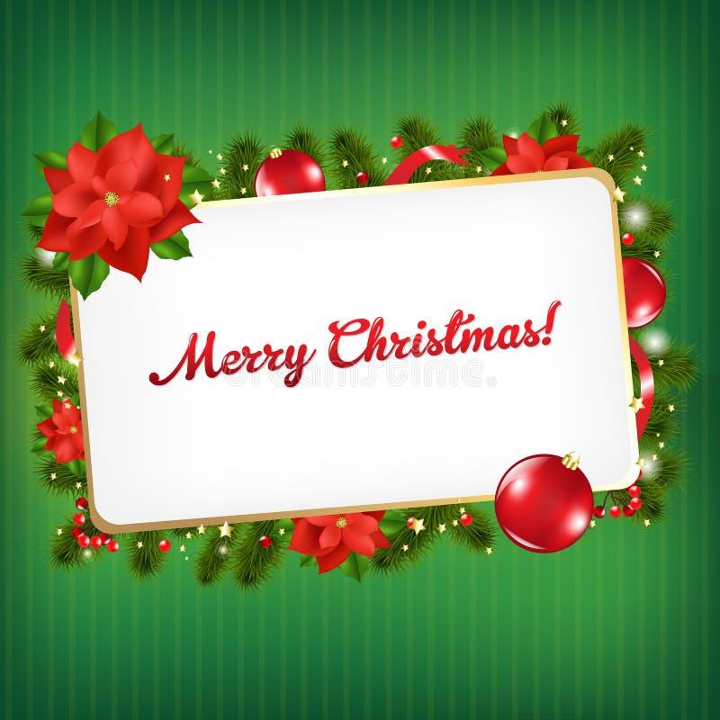 Étiquette de cadeau de blanc de cru de Noël illustration libre de droits