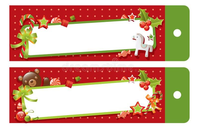 Étiquette de cadeau de Noël illustration de vecteur
