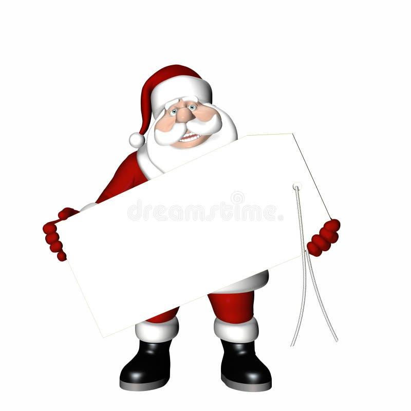 Étiquette de cadeau de Santa illustration de vecteur