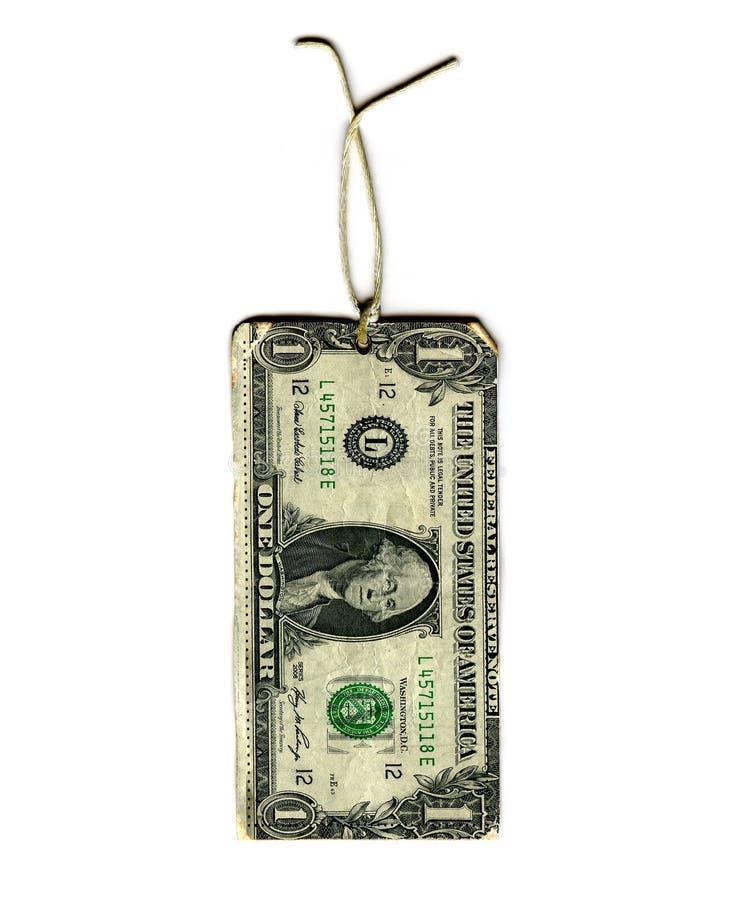 Étiquette de cadeau du dollar images stock