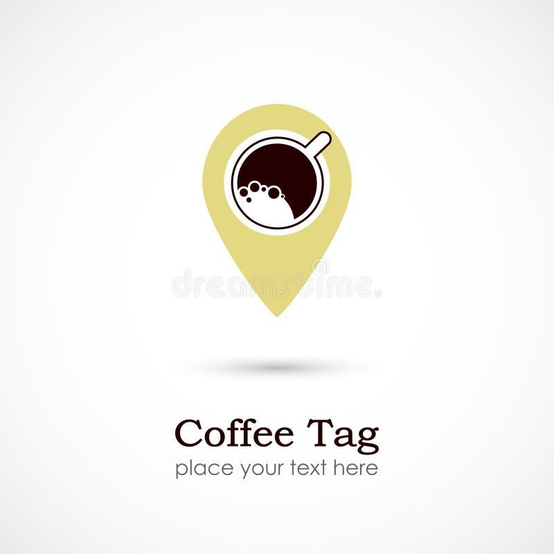 Étiquette de café illustration de vecteur