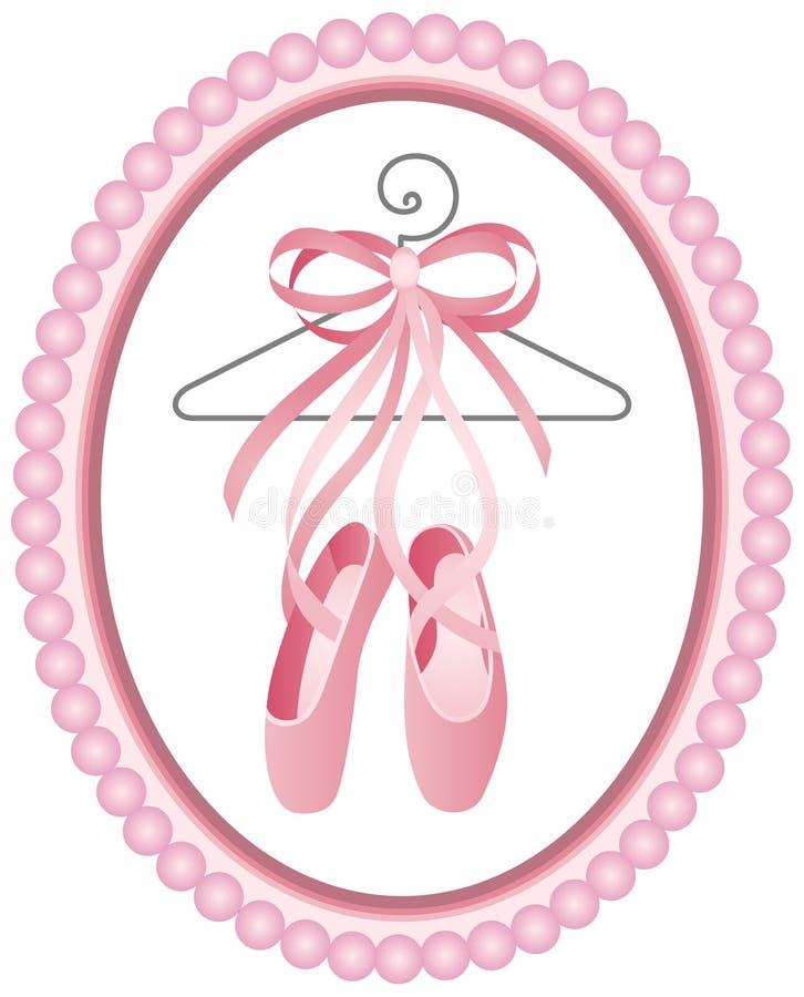 Étiquette de chaussures de ballet illustration de vecteur