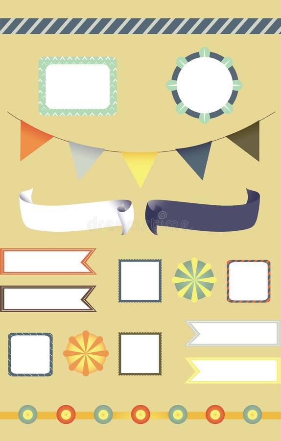 Étiquette de cirque et positionnement de fantaisie de décoration illustration stock