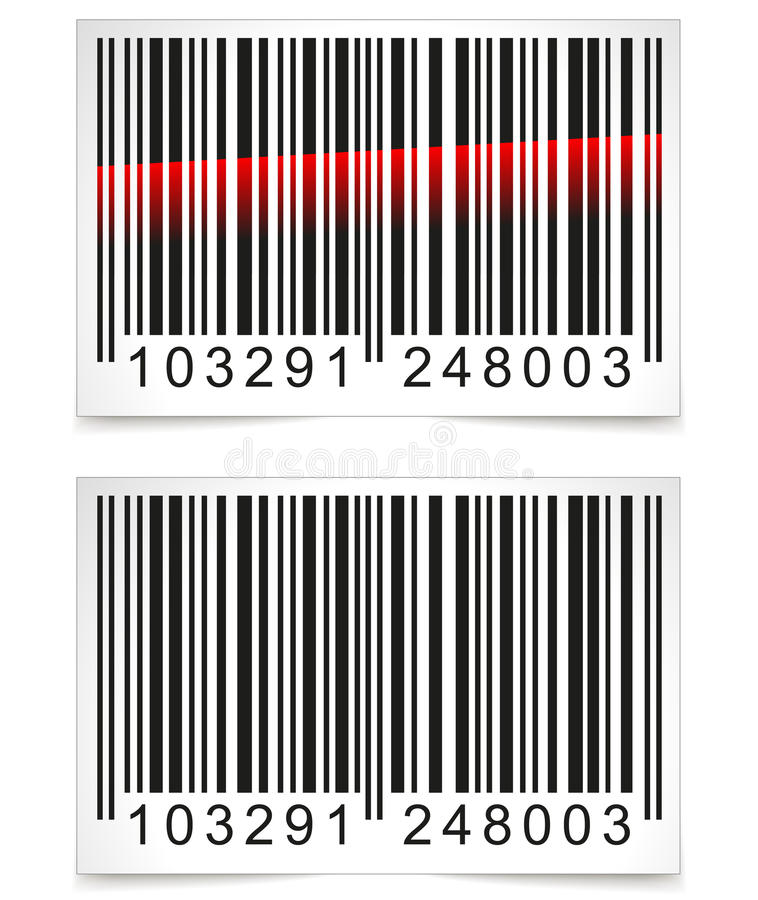 Étiquette de code barres de vecteur illustration stock
