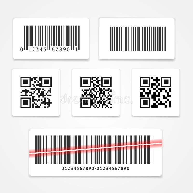 Étiquette de code barres ou ensemble d'autocollant Vecteur illustration libre de droits