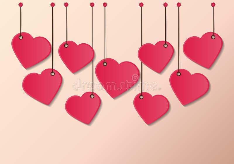 Étiquette de coeur illustration de vecteur