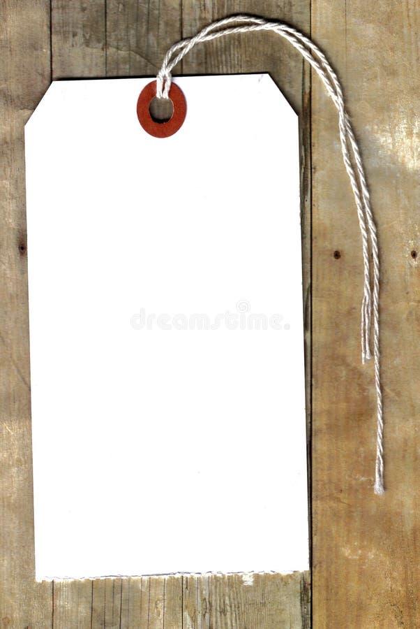 Étiquette de coup sur le bois photographie stock