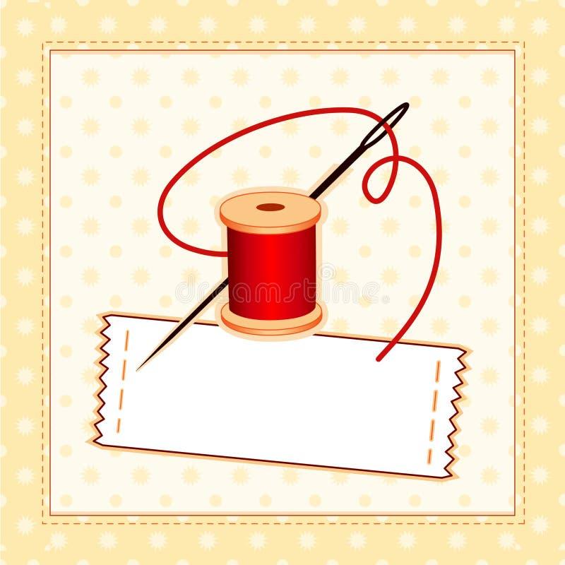 étiquette de couture de +EPS. Ajoutez votre propre texte. illustration de vecteur