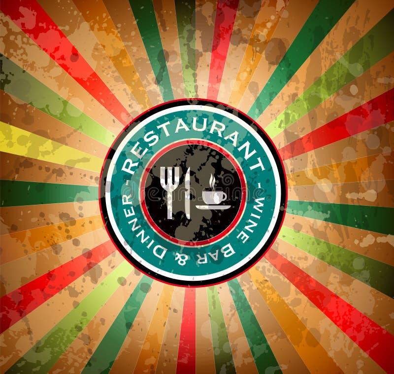 Étiquette de cru de qualité pour le restaurant de la meilleure qualité illustration libre de droits