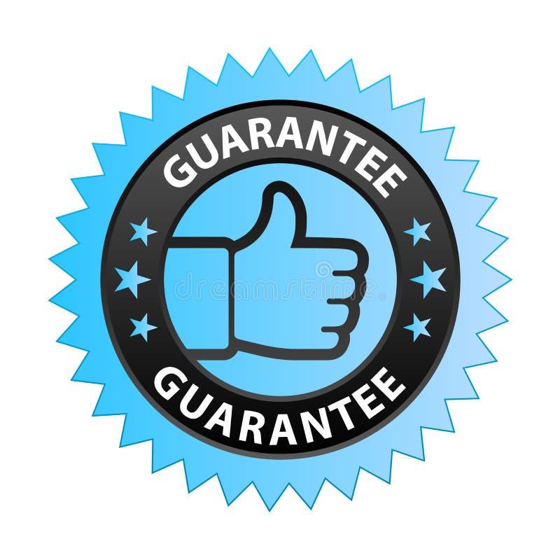 Étiquette de garantie illustration libre de droits