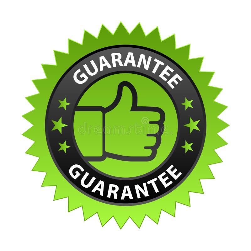 Étiquette de garantie illustration stock