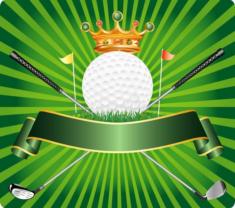 étiquette de golf médiévale illustration libre de droits