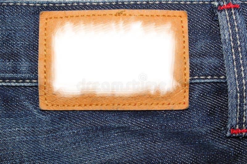 Étiquette de jeans photographie stock libre de droits