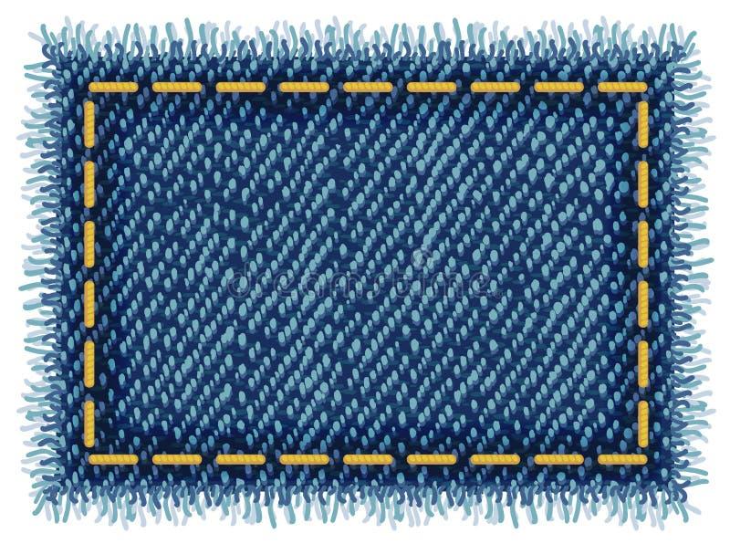 Étiquette de jeans. illustration stock