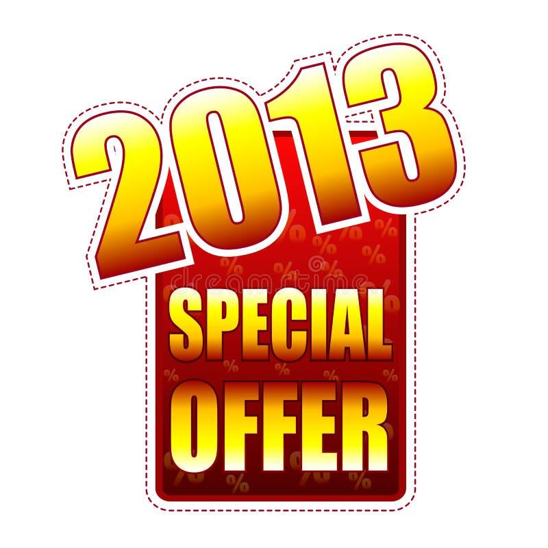 Étiquette de l'an 2013 d'offre spéciale illustration de vecteur