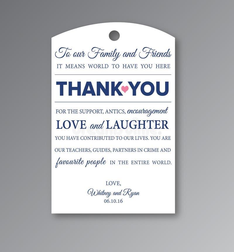 Étiquette de mariage imprimable et Editable illustration libre de droits