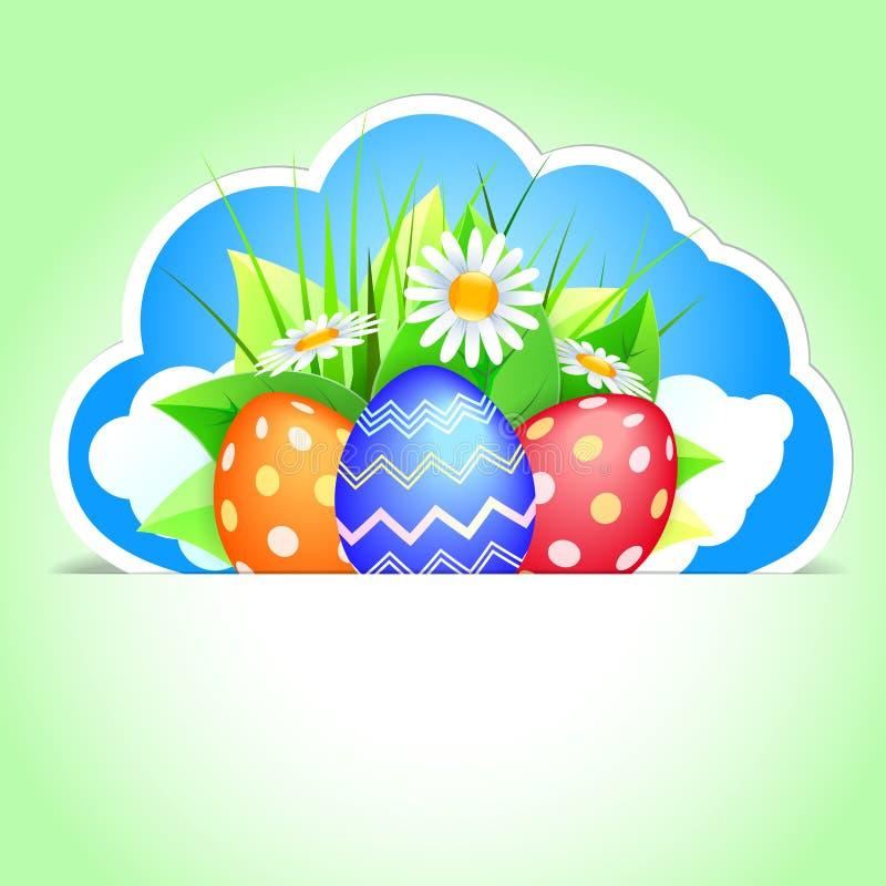 Étiquette de Pâques illustration stock