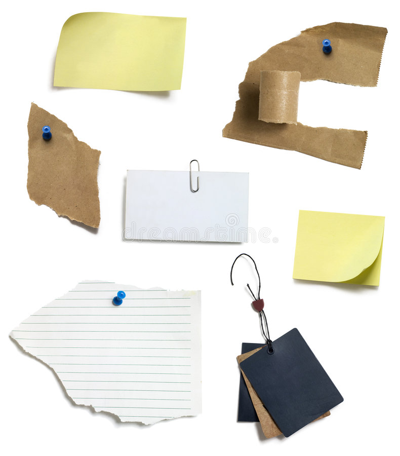 étiquette de papier de poteau photo stock