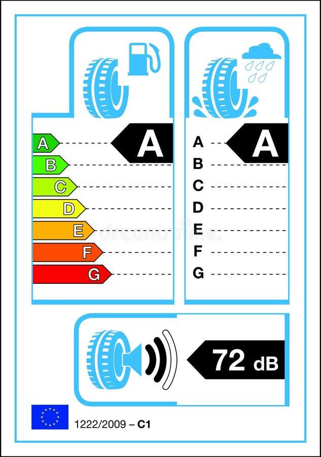 Étiquette de pneu illustration de vecteur