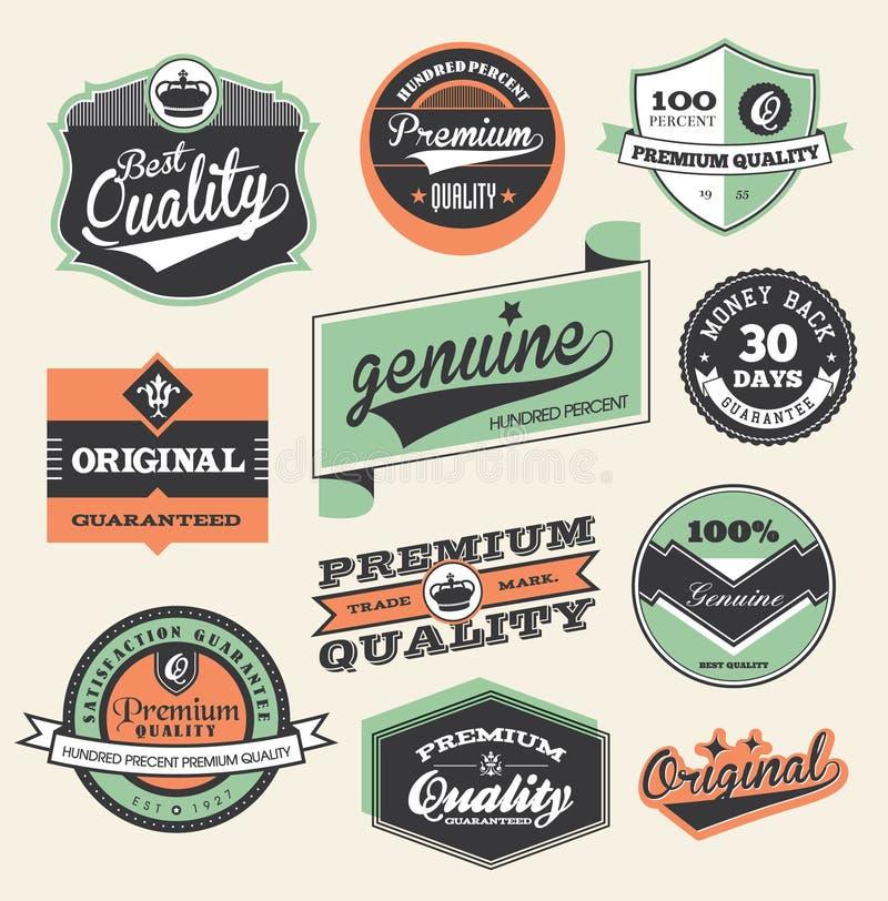 Étiquette de prime et de qualité illustration de vecteur