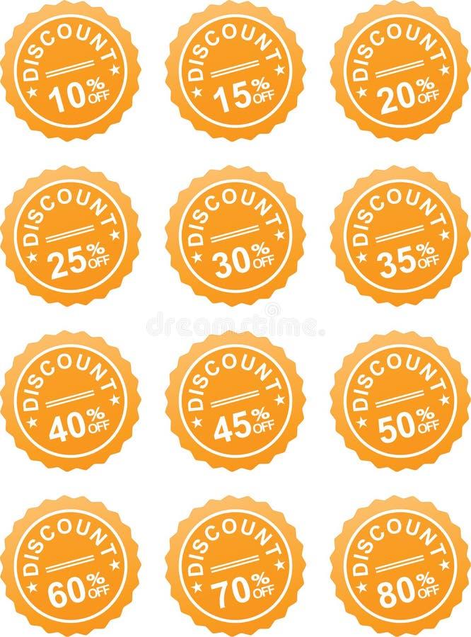 Étiquette de prix discount illustration stock