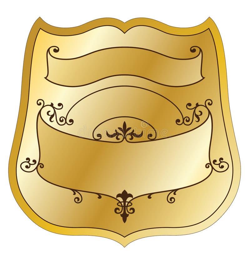 Étiquette de produit d'or illustration libre de droits