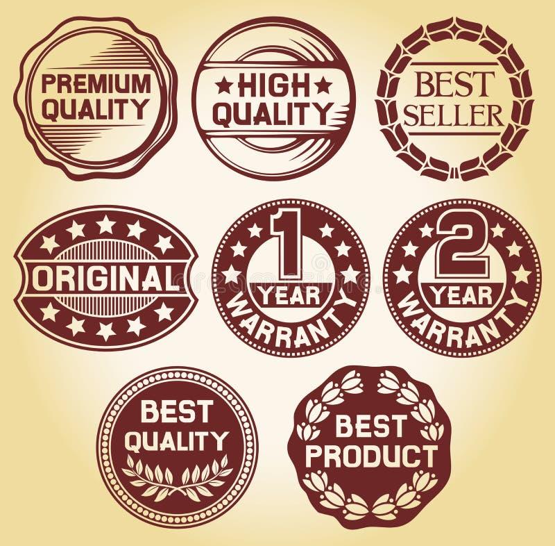 Étiquette de qualité illustration stock