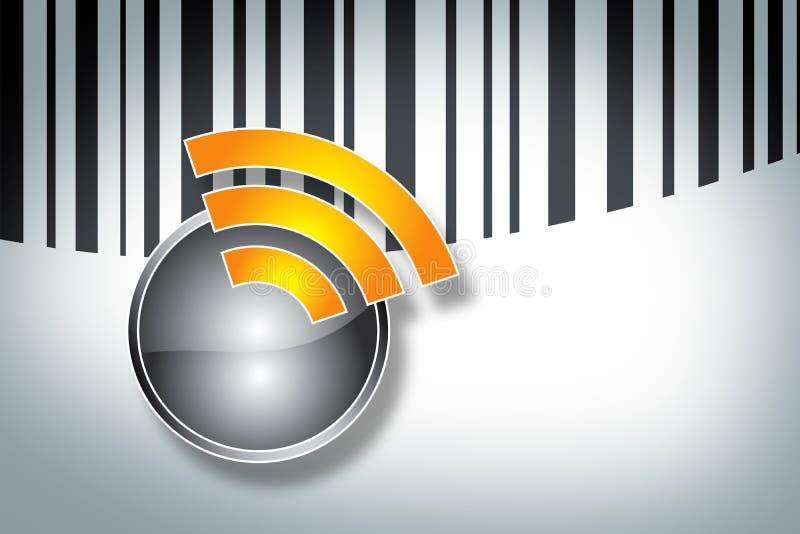 Étiquette de RFID illustration libre de droits