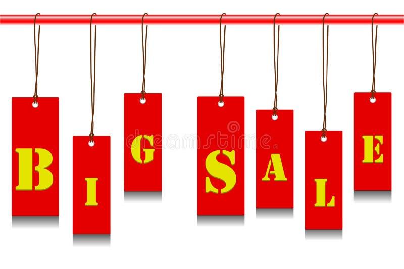 Étiquette de vente illustration stock