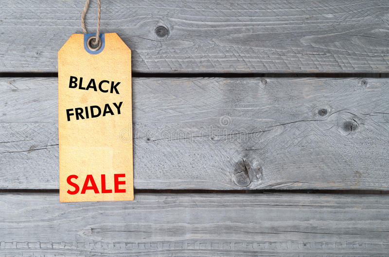 Étiquette de vente de Black Friday image libre de droits