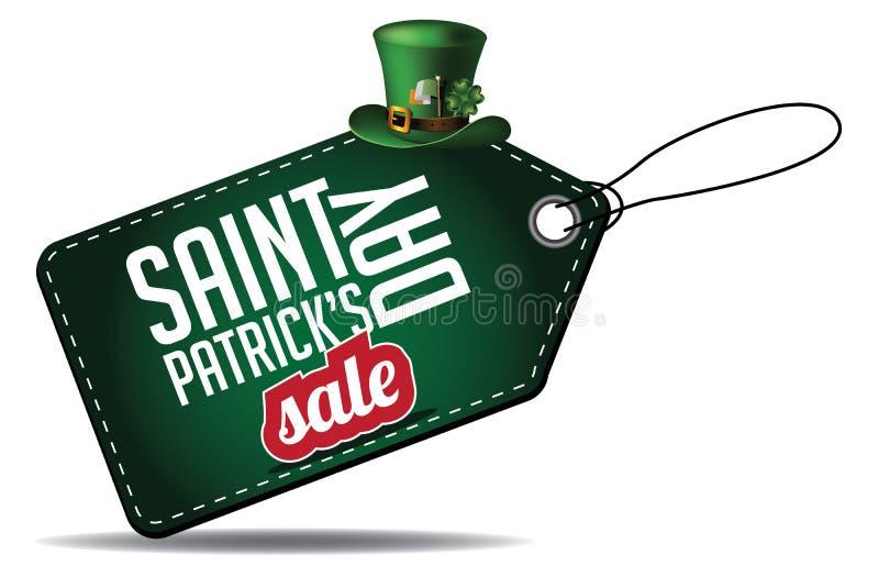 Étiquette de vente de jour de Patricks de saint illustration libre de droits