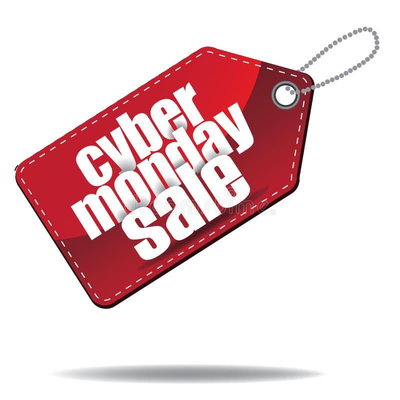 Étiquette de vente posée par lundi de Cyber illustration libre de droits