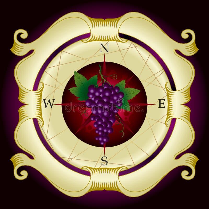 Étiquette de vigne illustration de vecteur