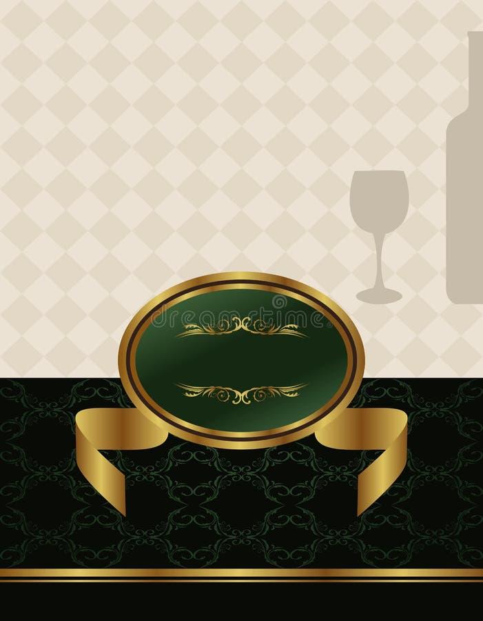 Étiquette de vin d'or illustration libre de droits