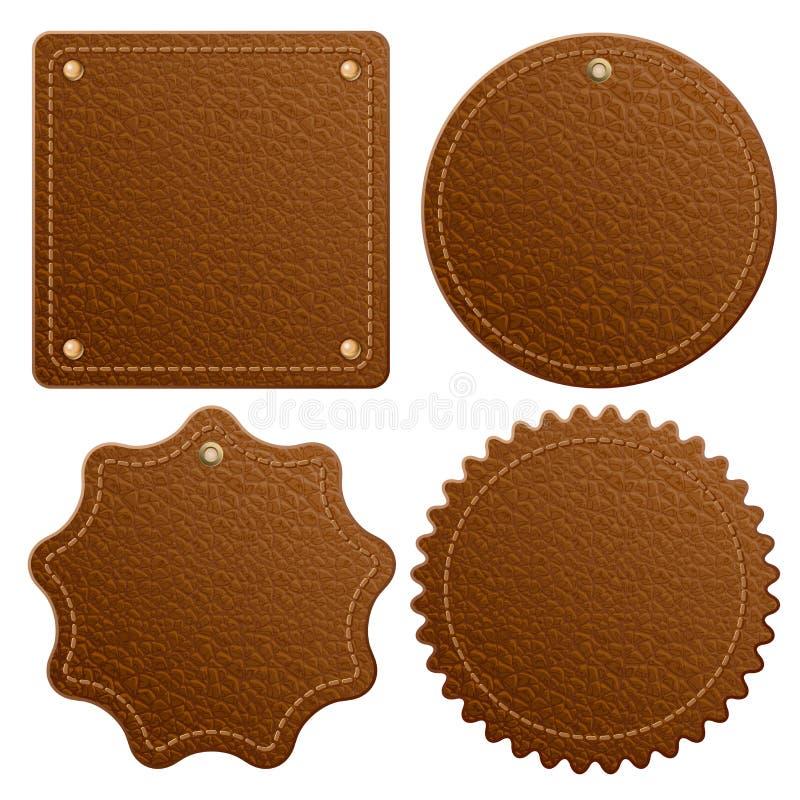 Étiquette en cuir illustration de vecteur