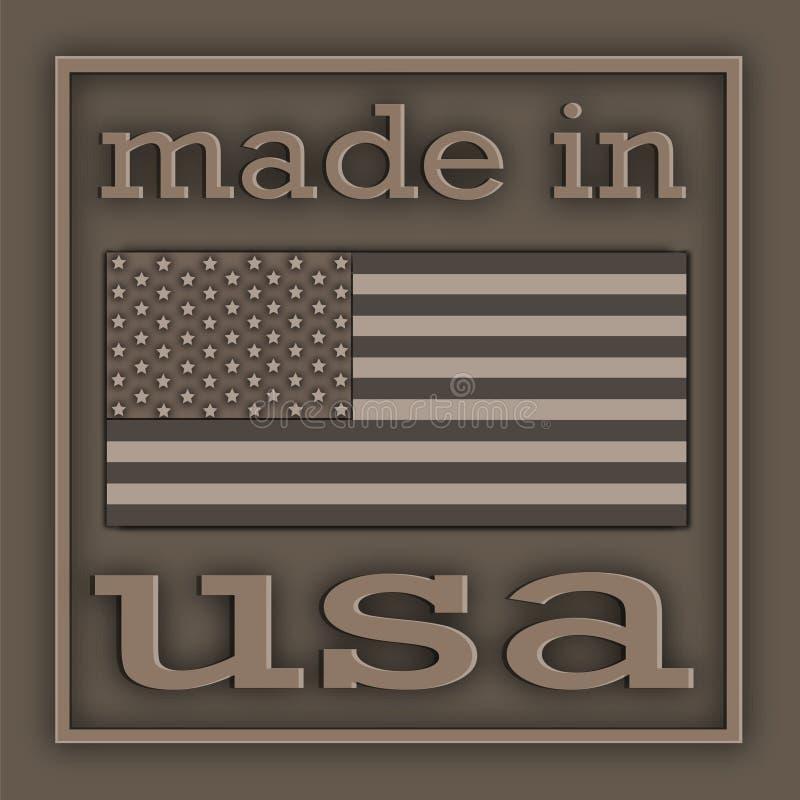 Étiquette Etats-Unis illustration libre de droits