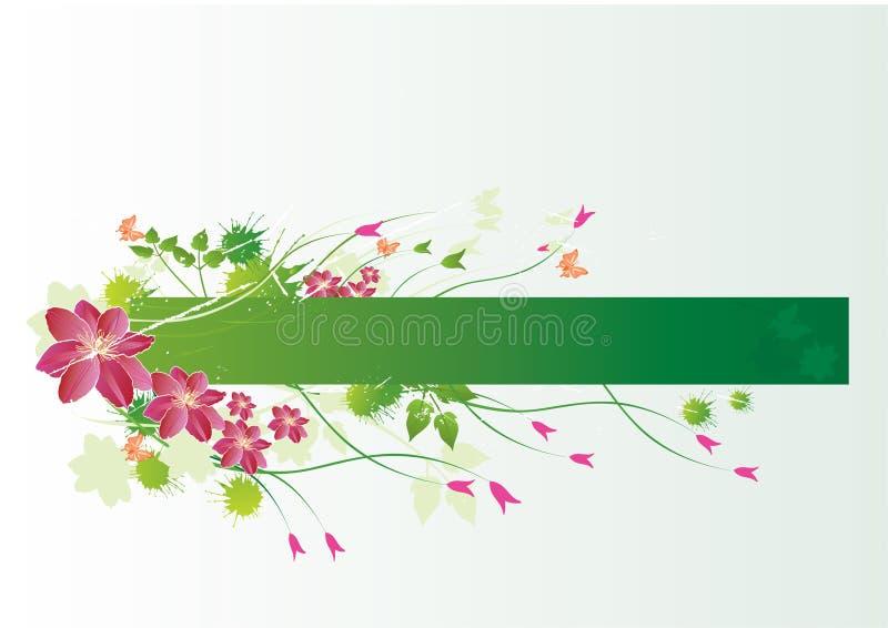 Étiquette florale illustration de vecteur